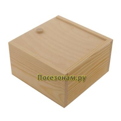 Деревянный пенал 18 х 18 х 10 см