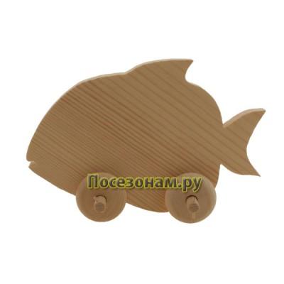 """Деревянная игрушка """"Рыбка-3"""" (на колесиках)"""