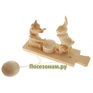 """Богородская игрушка  """"Мишка - играет, зайка - пляшет"""""""
