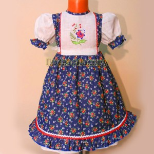 Платье детское (х/б цвет+лен)