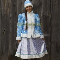 "Новогодний костюм ""Снегурочка"" детский (парча)"
