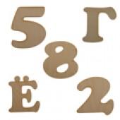 Деревянные заготовки цифр и букв