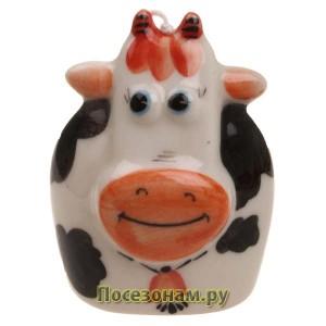 """Колокольчик фарфоровый """"Корова"""""""