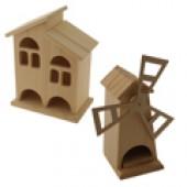 Деревянные заготовки чайных домиков