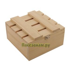 Деревянная реечная шкатулка 702-5