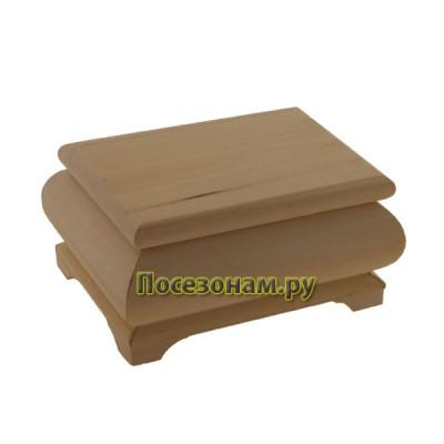 Деревянная заготовка фигурная шкатулка 14 х 10 х 7 см
