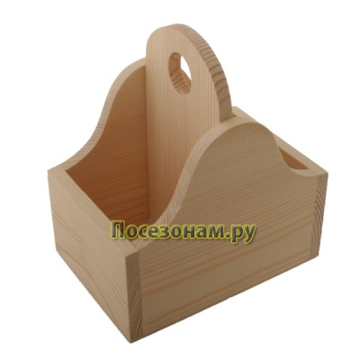 Коробка деревянная под специи с 2 делениями 302