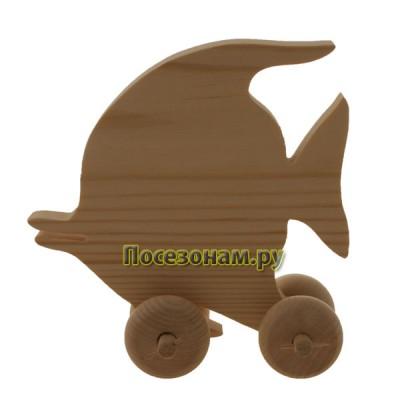 """Деревянная игрушка """"Рыбка-2"""" (на колесиках)"""