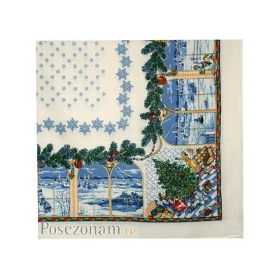 Павловопосадская скатерть «Рождественская сказка»