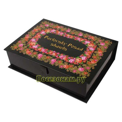 "Коробка-шкатулка ""Pavlovsky Posad Shawls"" (цвет черный)"
