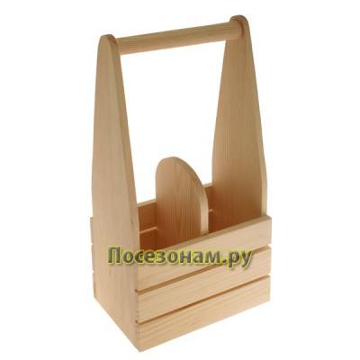 Деревянный короб под две бутылки (шампанское) 804-2