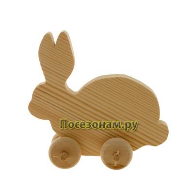 """Деревянная игрушка """"Кролик"""" на колесиках"""
