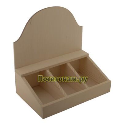 Коробка деревянная под 3 упаковки чая