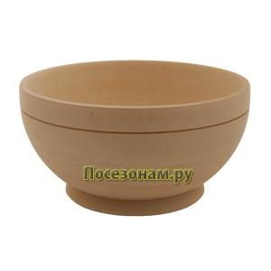 Деревянная заготовка чашки-пиалы 14 х 7 см