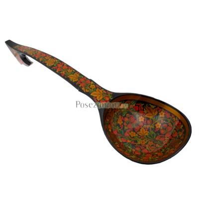 Ложка-ковш деревянная расписная (хохлома)