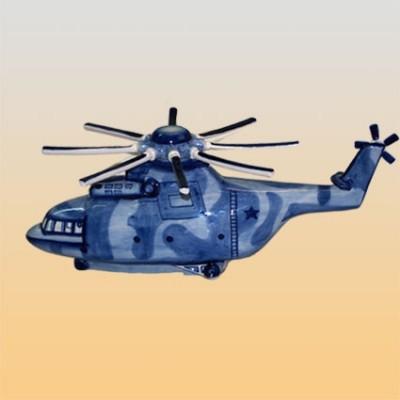 """Штоф """"Вертолет"""" (гжель)"""