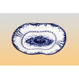 Тарелка «Романтика» малая (гжель)