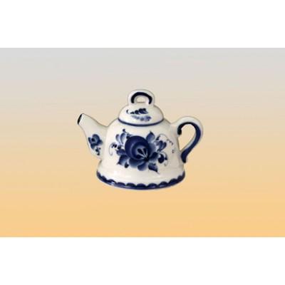 Сувенир «Колокольчик-чайник» (гжель)