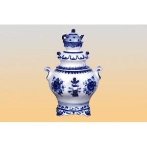 Чайница «Самовар» (гжель)