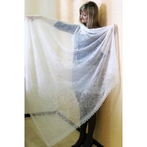 Платок пуховый ажурный (паутинка) 160х160 см