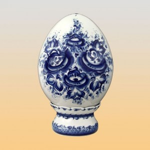 """Яйцо """"Подарочное"""" (гжель)"""