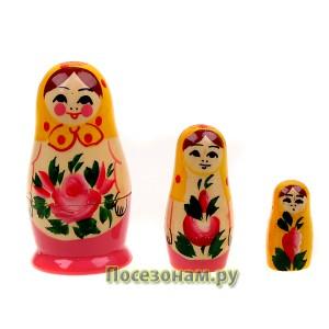 Матрешка 3-х кукольная (нетрадиционная роспись)