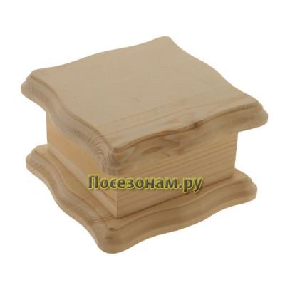Шкатулка деревянная с узорчатой крышкой 314