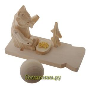 """Богородская игрушка  """"Мишка за столом"""""""