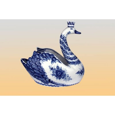Фруктовница «Царевна лебедь» (гжель)