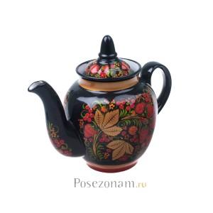 """Чайник"" из чайного сервиза ""Клубника"" (хохлома)"