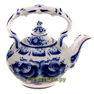 Чайник «Вдохновенье» (гжель)