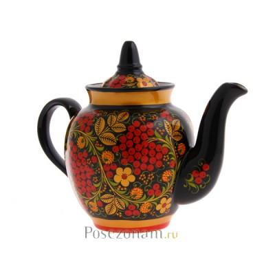 """Чайник"" из чайного сервиза ""Рябина"" (хохлома)"