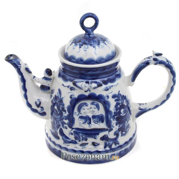 Чайник «Любовь и голуби» (гжель) купить недорого с ...