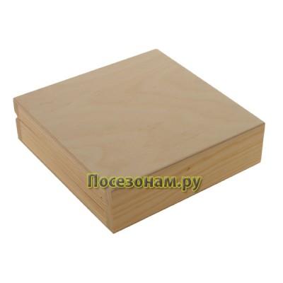 Шкатулка деревянная под деньги (двойная) 045-3