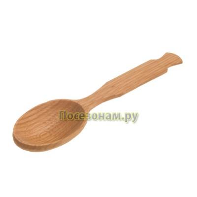 Деревянная ложка c фигурной резкой 20 см