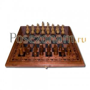 Шахматы 3 в 1 тониров.