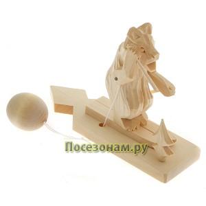 """Богородская игрушка  """"Медведь катается на лыжах"""""""
