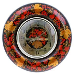 """Часы настенные """"Весна"""" яблоки (хохлома)"""