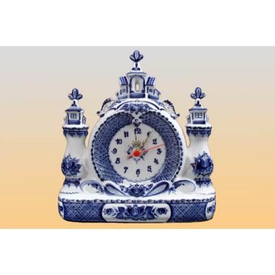 Часы «Городок» (гжель)