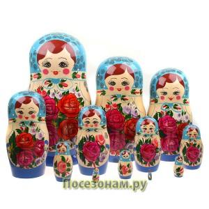 Матрешка 12-ти кукольная (нетрадиционная роспись)