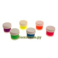 Набор красок акриловых флуоресцентных 6 цветов