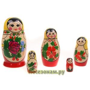 Матрешка 5 -ти кукольная (традиционная роспись) хохлома