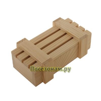 Реечный короб из дерева 034-1