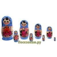 Матрешка 8-ми кукольная (нетрадиционная роспись)