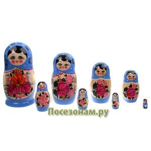 Матрешка 8-ми кукольная (нетрадиционная роспись) хохлома