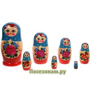 Матрешка 7-ми кукольная (нетрадиционная роспись) хохлома