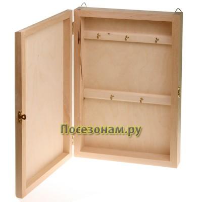 Деревянная заготовка шкафчика для ключей