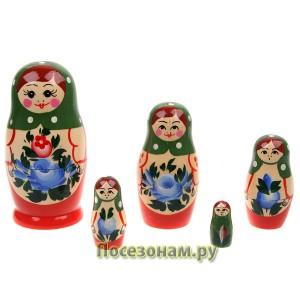 Матрешка 5-ти кукольная (нетрадиционная роспись) хохлома