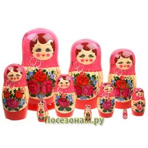 Матрешка 10-ти кукольная (нетрадиционная роспись) хохлома