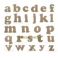 Деревянная заготовка набора всех букв алфавита (26 букв от а до z)
